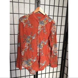 Zara Men floral button up shirt